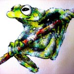 Abah River Flying Frog - watercolour classes brisbane