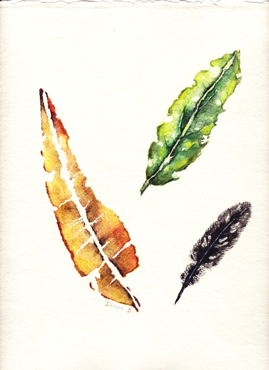 Leaves - adult art classes