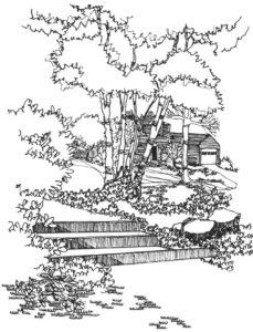 landscape drawing - watercolour class